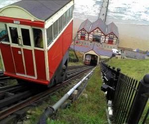 Funicular, is used for very steep slopes puzzle