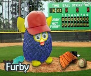 Furby plays baseball puzzle