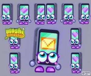 Gabby is one of the Moshlings, shaped like an iPhone or an iPad. Techies puzzle