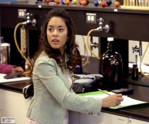 Gabriella Montez in the laboratory puzzle