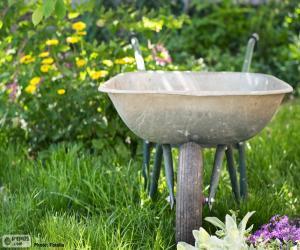 Gardener wheelbarrow puzzle