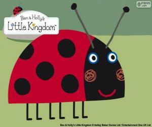 Gaston the Ladybird, the best friend insect from Ben and Holly puzzle