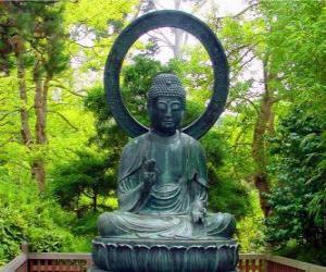 Gautama Buddha seated puzzle