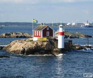Gaveskar lighthouse, Gothenburg, Sweden puzzle