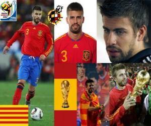 Gerard Pique (The dandy of Spain) Spanish team defense puzzle