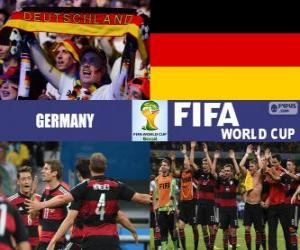 Germany celebrates its classification, Brazil 2014 puzzle