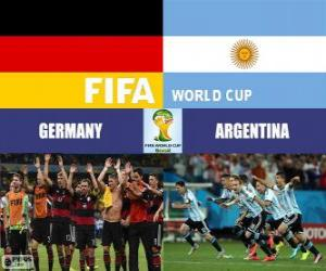 Germany vs Argentina. Final of FIFA World Cup Brazil 2014 puzzle