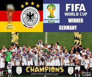 Germany, world champions. Brazil 2014 Football World Cup puzzle