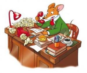 Geronimo Stilton, the director of the newspaper  puzzle