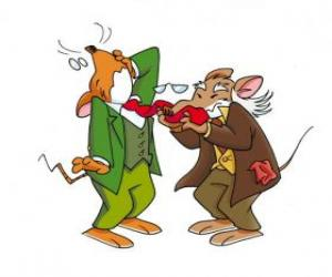Geronimo Stilton with his father puzzle