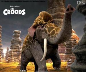 Girelephant from The Croods, a cross between a giraffe and an elephant puzzle