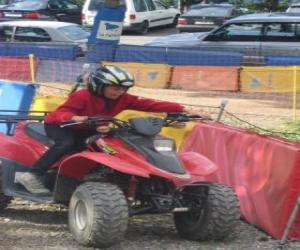 Girl driving a quad puzzle