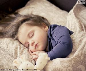 Girl sleeping puzzle