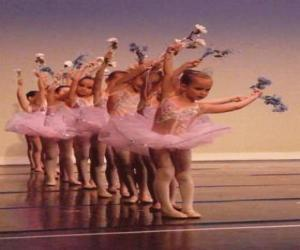 Girls doing ballet puzzle