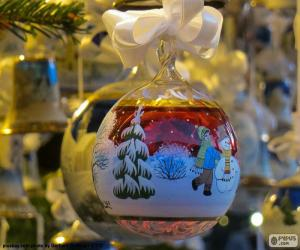 Glass christmas ball ornaments puzzle