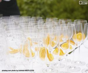Glass glasses for a banquet puzzle