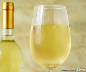 Glass of white wine puzzle