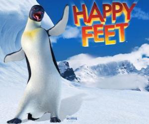 Gloria is a female emperor penguin, Mumble is in love with Gloria in the film Happy Feet puzzle