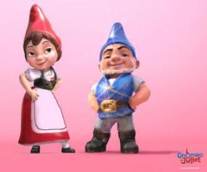 Gnomeo and Juliet, the protagonists of a film based on Shakespeare's Romeo and Juliet puzzle