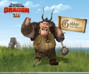 Gobber The Belch, the seasoned viking warrior appointed to drill the new recruits puzzle