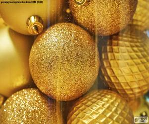 Golden Balls for Christmas puzzle