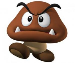 Goomba, enemies of Mario, a kind of mushroom with feet puzzle