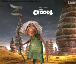 Gran, the mother-in-law of Grug from The Croods puzzle
