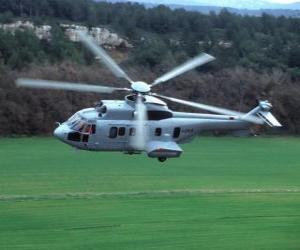 Great Cougar EC725 helicopter puzzle