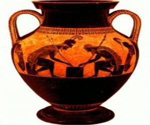 Greek amphora decorated puzzle