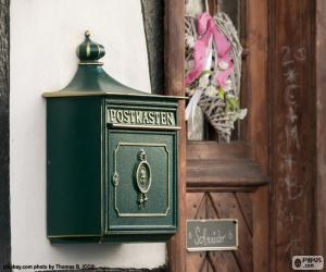 Green private letter box puzzle