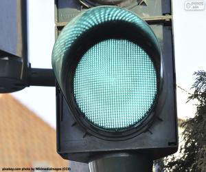 Green traffic light puzzle