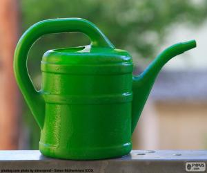 Green watering can puzzle