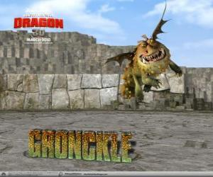 Gronckle, one of the stronger and more robust dragons puzzle