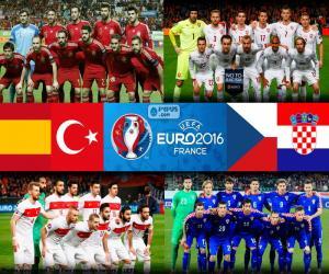 Group D, Euro 2016 puzzle