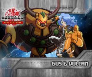 Gus and his Bakugan Vulcan puzzle