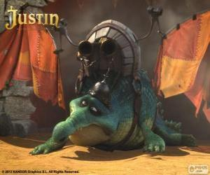 Gustav. A crocodile who wants to fly and be a dragon puzzle