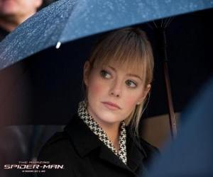 Gwen Stacy at the funeral of his father puzzle