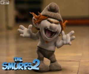 Hackus, a naughty creature similar to a Smurf created by Gargamel puzzle