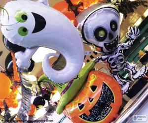 Halloween balloons puzzle
