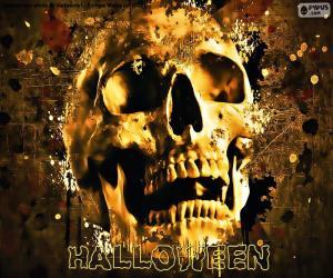 Halloween skull puzzle
