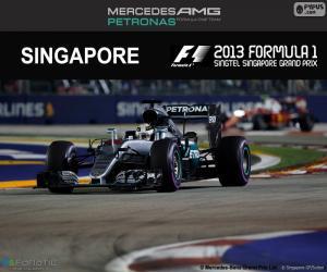 Hamilton, 2016 Singapore Grand Prix puzzle