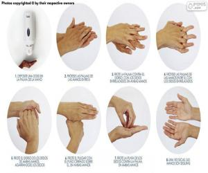 Handwashing puzzle