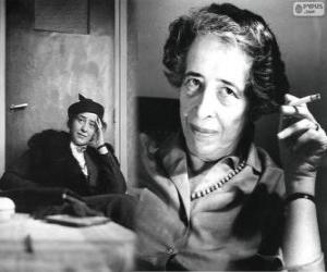 Hannah Arendt, a German-American political theorist puzzle