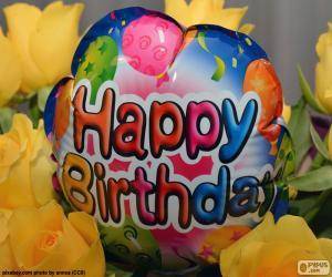 Happy Birthday balloon puzzle