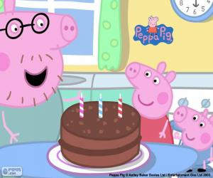 Happy Birthday Peppa Pig puzzle