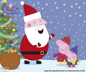 Happy Christmas Peppa puzzle