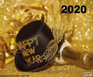 Happy New Year 2020 puzzle