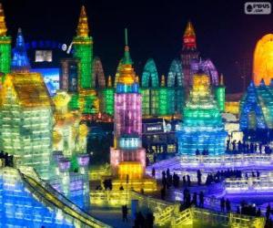 Harbin Ice and Snow Sculpture Festival, China puzzle