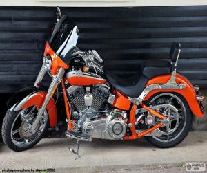 Harley Davidson Orange puzzle