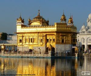 Harmandir Sahib or Golden Temple, Sikh Temple in Amritsar, India puzzle